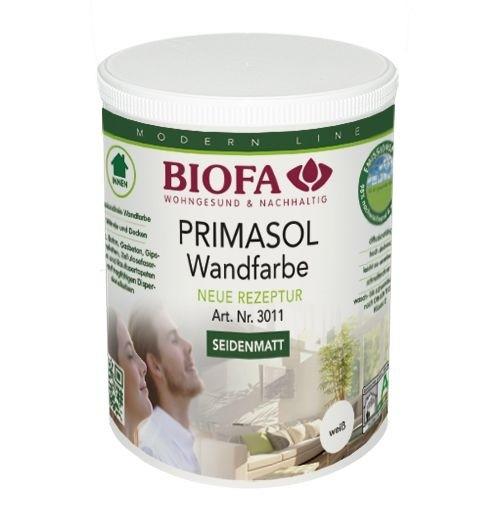 BIOFA Primasol Wandfarbe weiß, seidenmatt, lösemittelfrei 1l