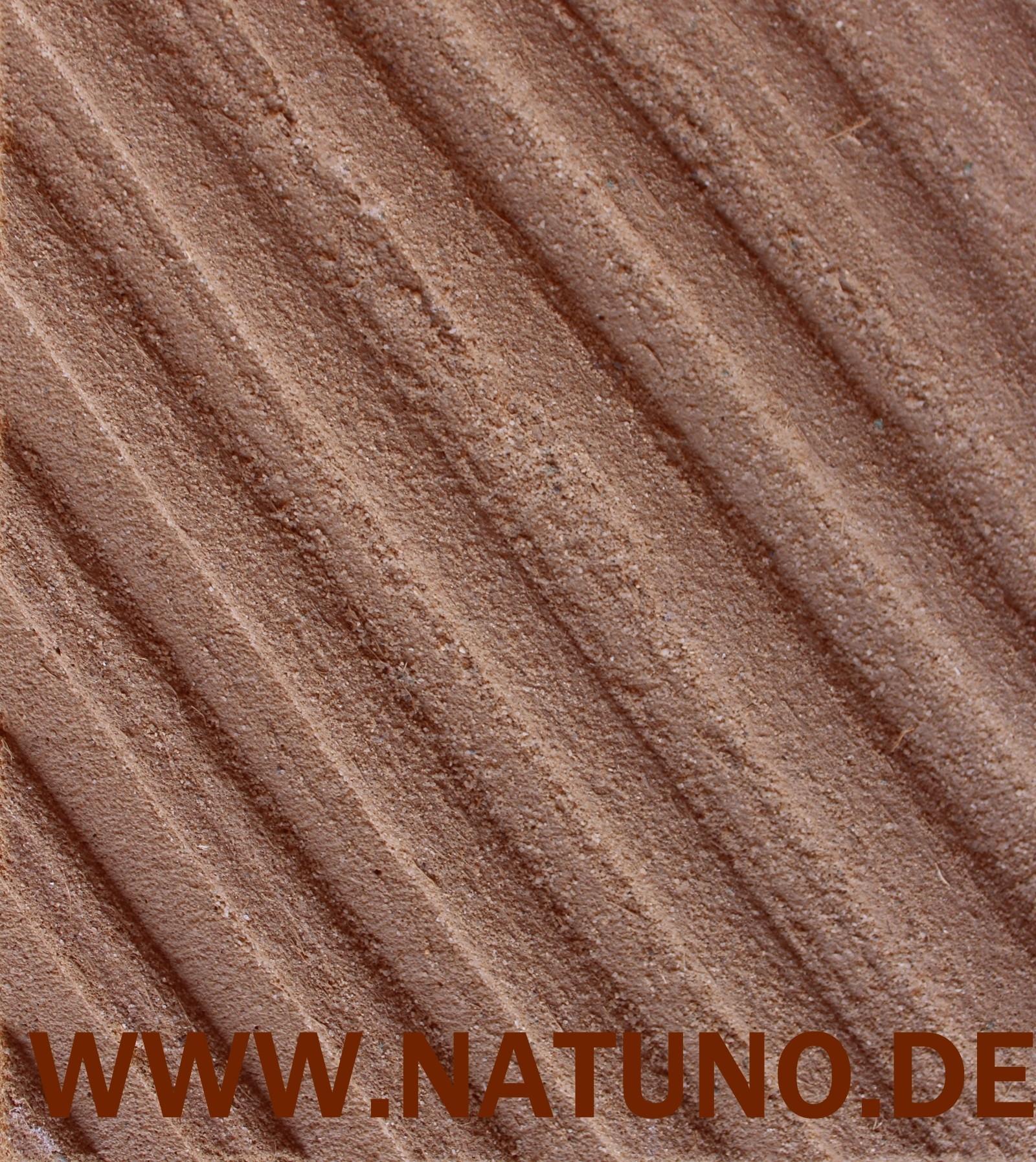 conluto Lehm Klebe und Armierungsmörtel gekämmt getrocknet