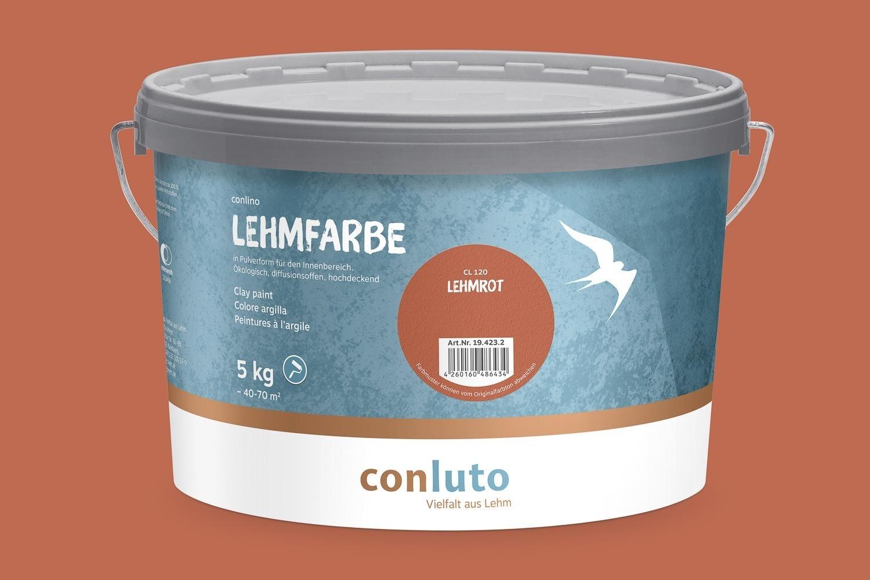 Conluto Lehmfarbe 5 kg trocken - für 70 m²