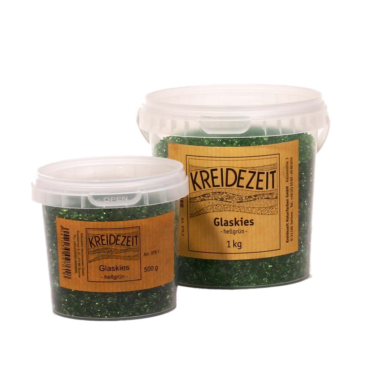 Kreidezeit Glaskies hellgrün 500g