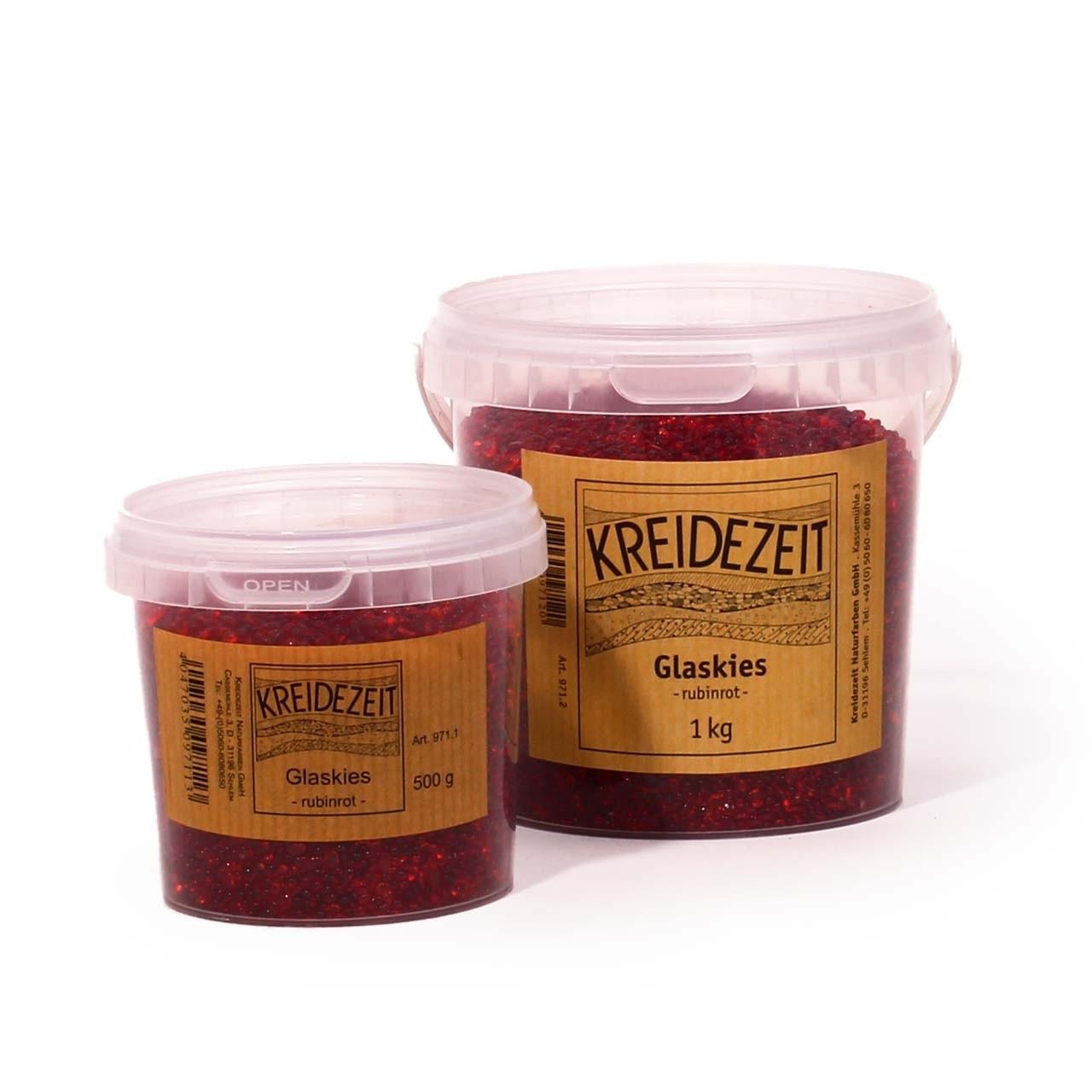 Kreidezeit Glaskies rubinrot 20 kg