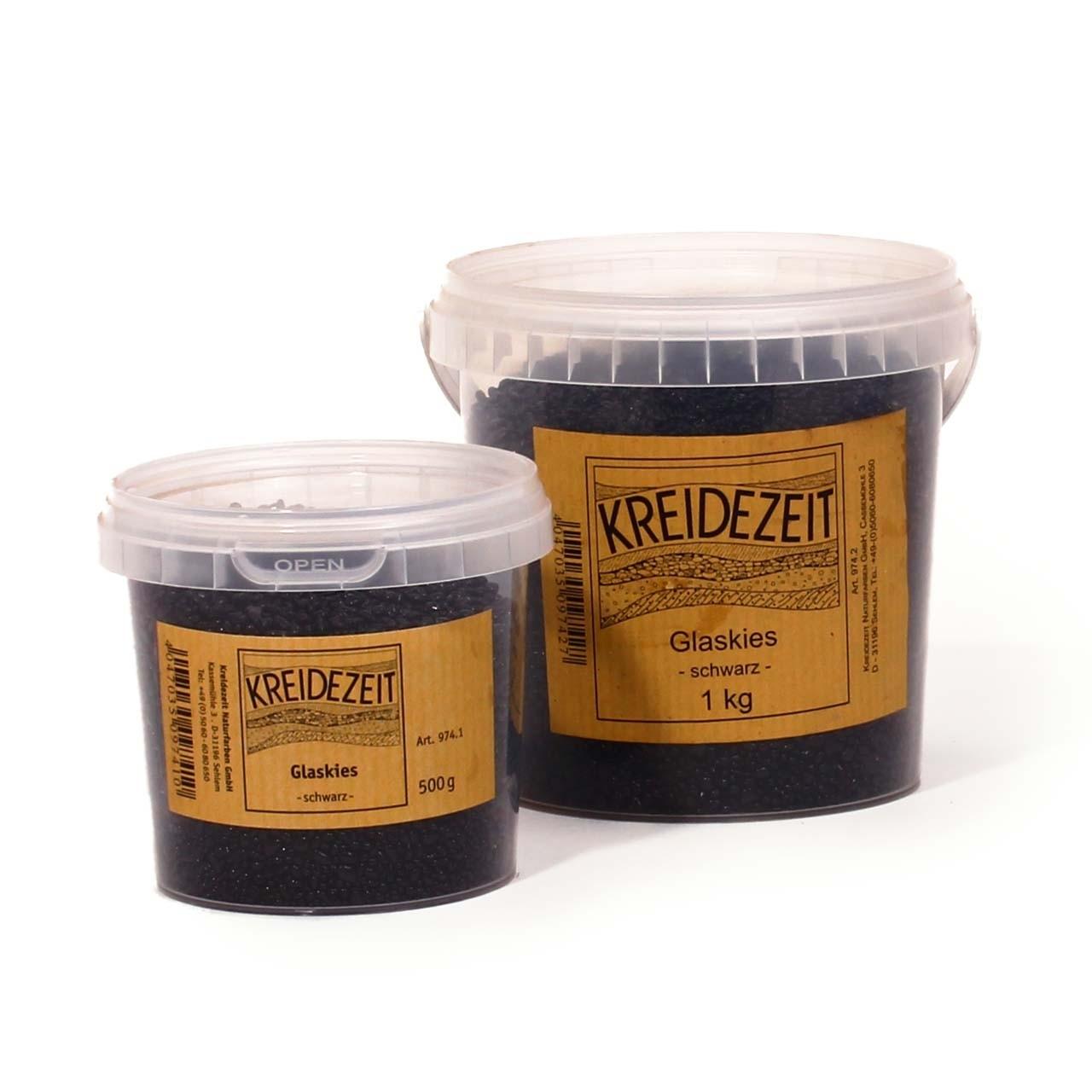 Kreidezeit Glaskies schwarz 1 kg