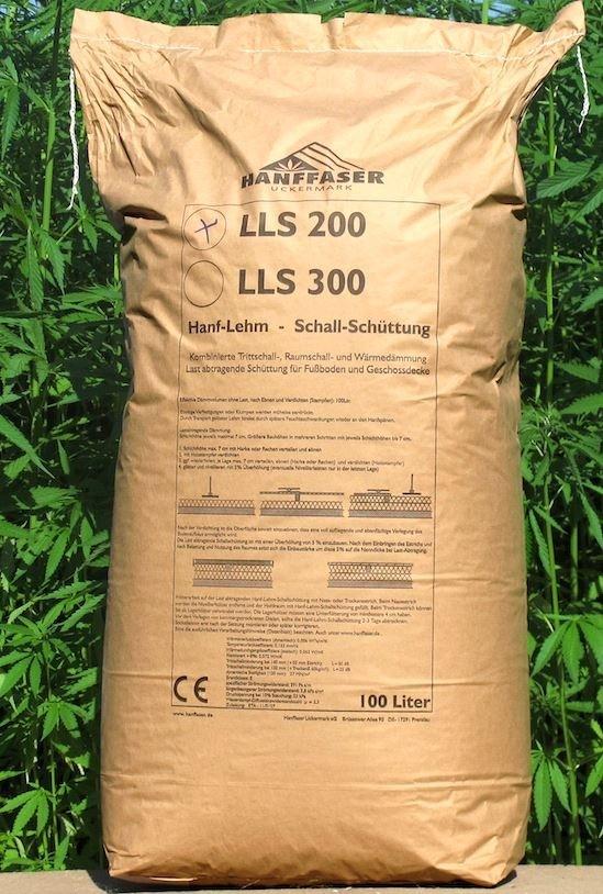Hanffaser Hanf Lehm-Schallschüttung LLS 200; 100 l Sack