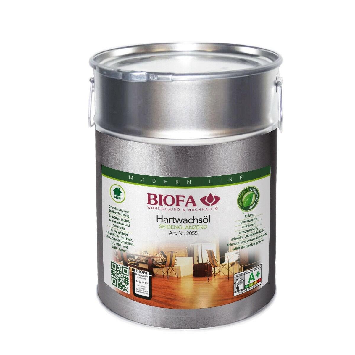 BIOFA Hartwachsöl, seidenglänzend 10 l