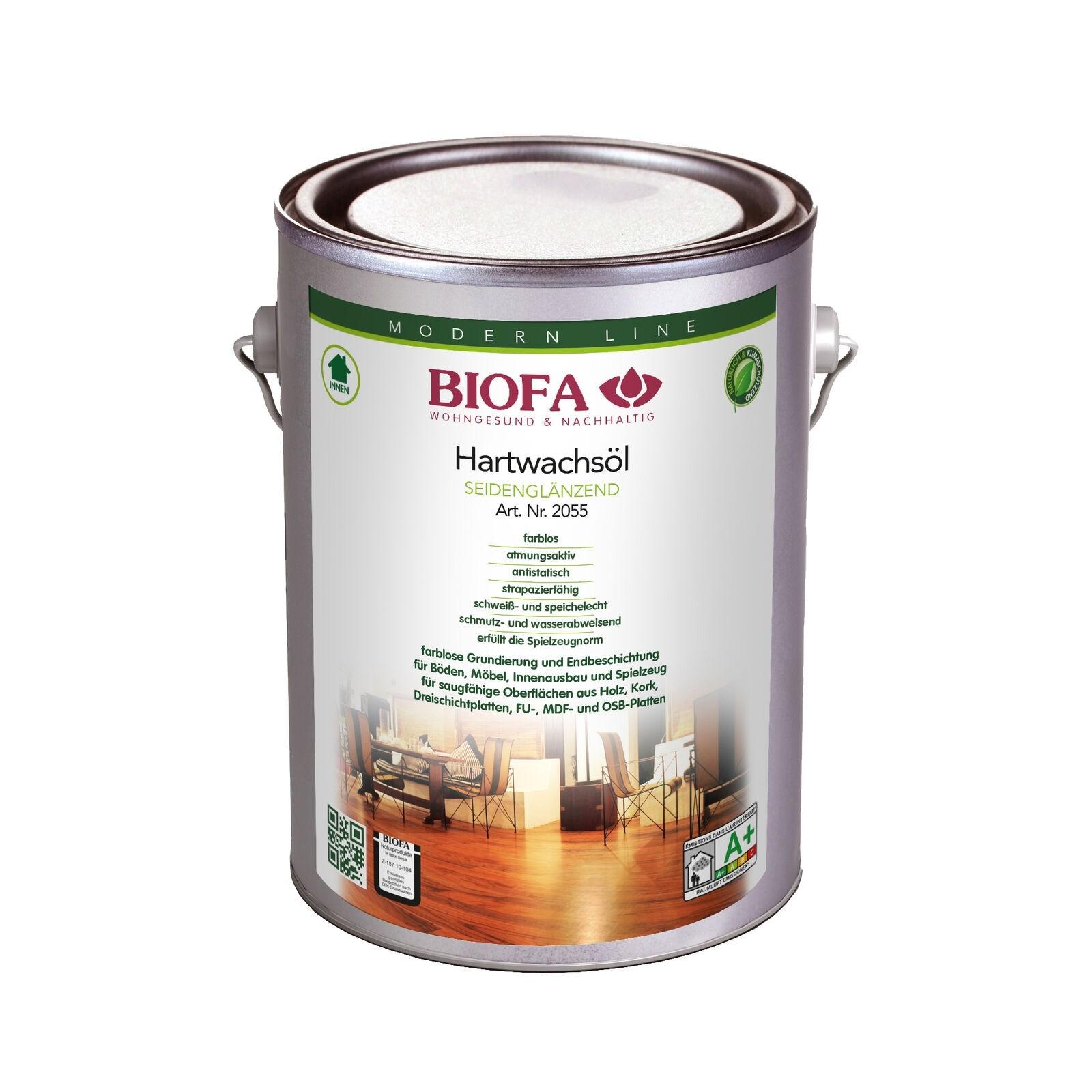 BIOFA Hartwachsöl, seidenglänzend 2,5 l