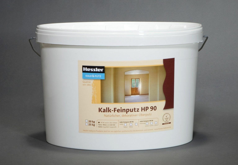 Hessler HP 90 - Naturkalk-Feinputz naturweiß 1 mm   20 kg-Eimer