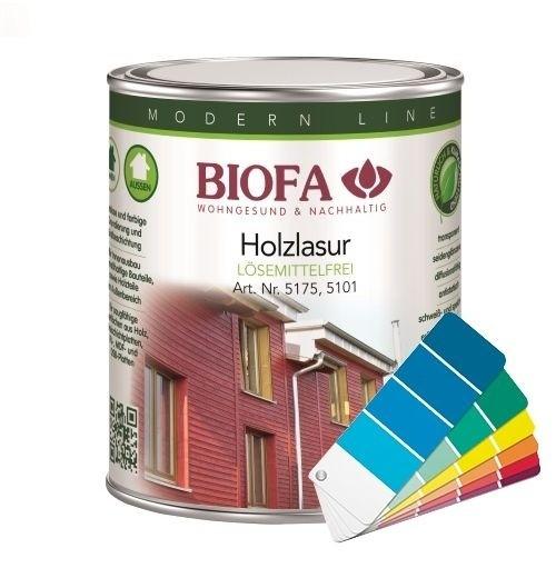 BIOFA Holzlasur farbig, lösemittelfrei 10 l