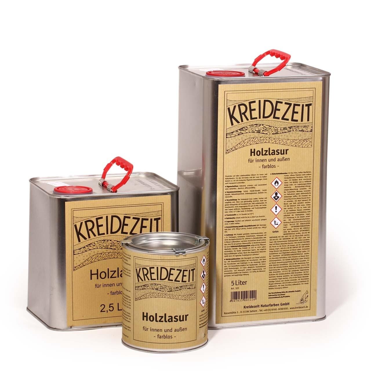 Kreidezeit Holzlasur farblos 20 L