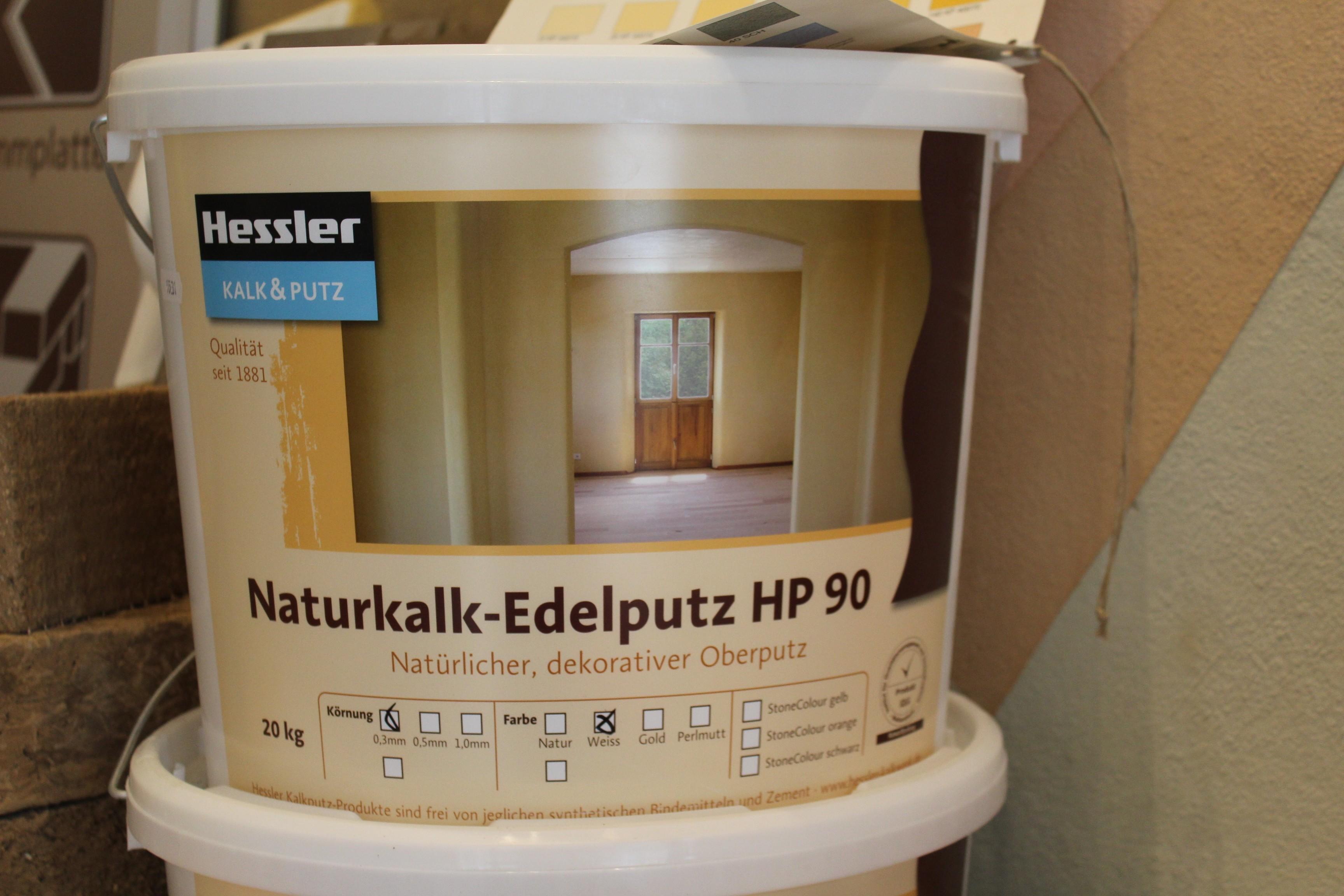 Hessler HP 90 - Naturkalk-Feinputz weiß  0,3 mm 20 kg-Eimer