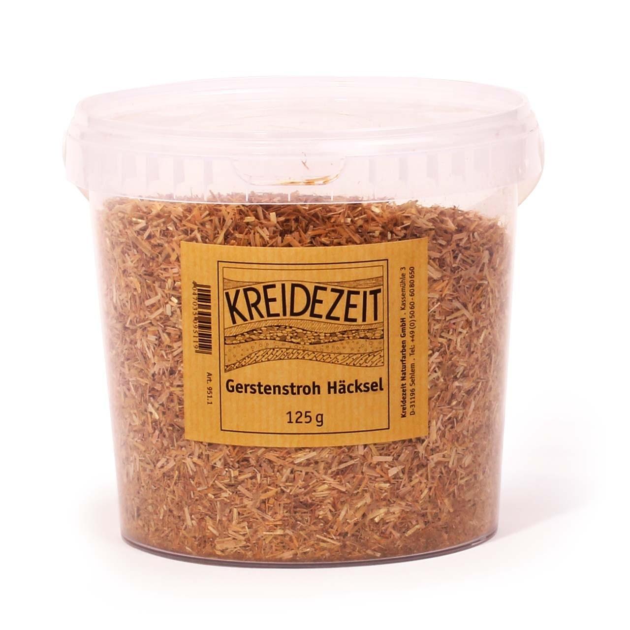 Kreidezeit Gerstenstroh Häcksel 125 g