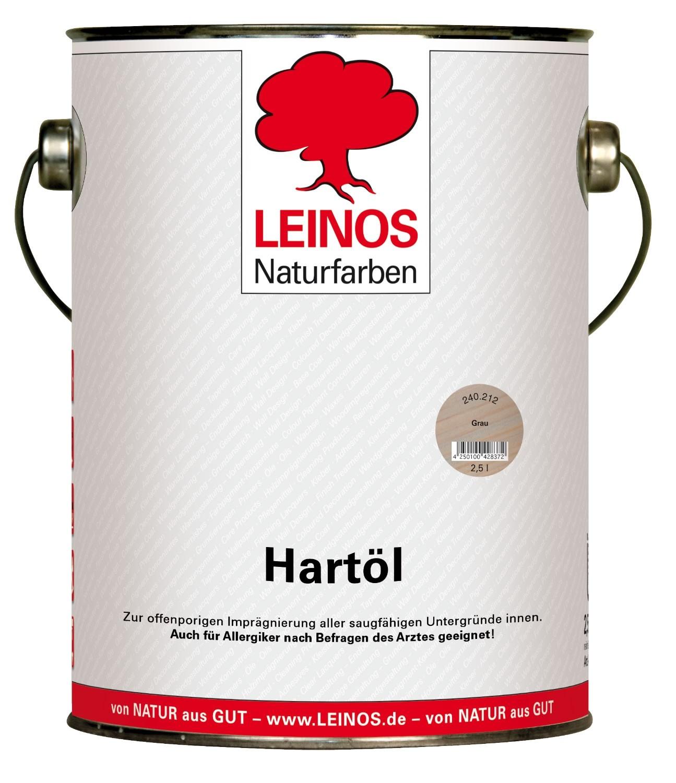 LEINOS Hartöl Grau 240 2,5L