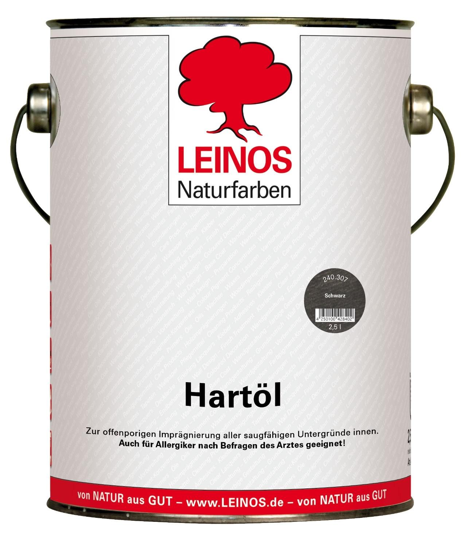 LEINOS Hartöl Schwarz 240 2,5L