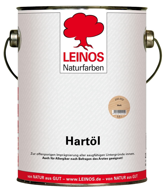 LEINOS Hartöl Weiß 240 2,5L