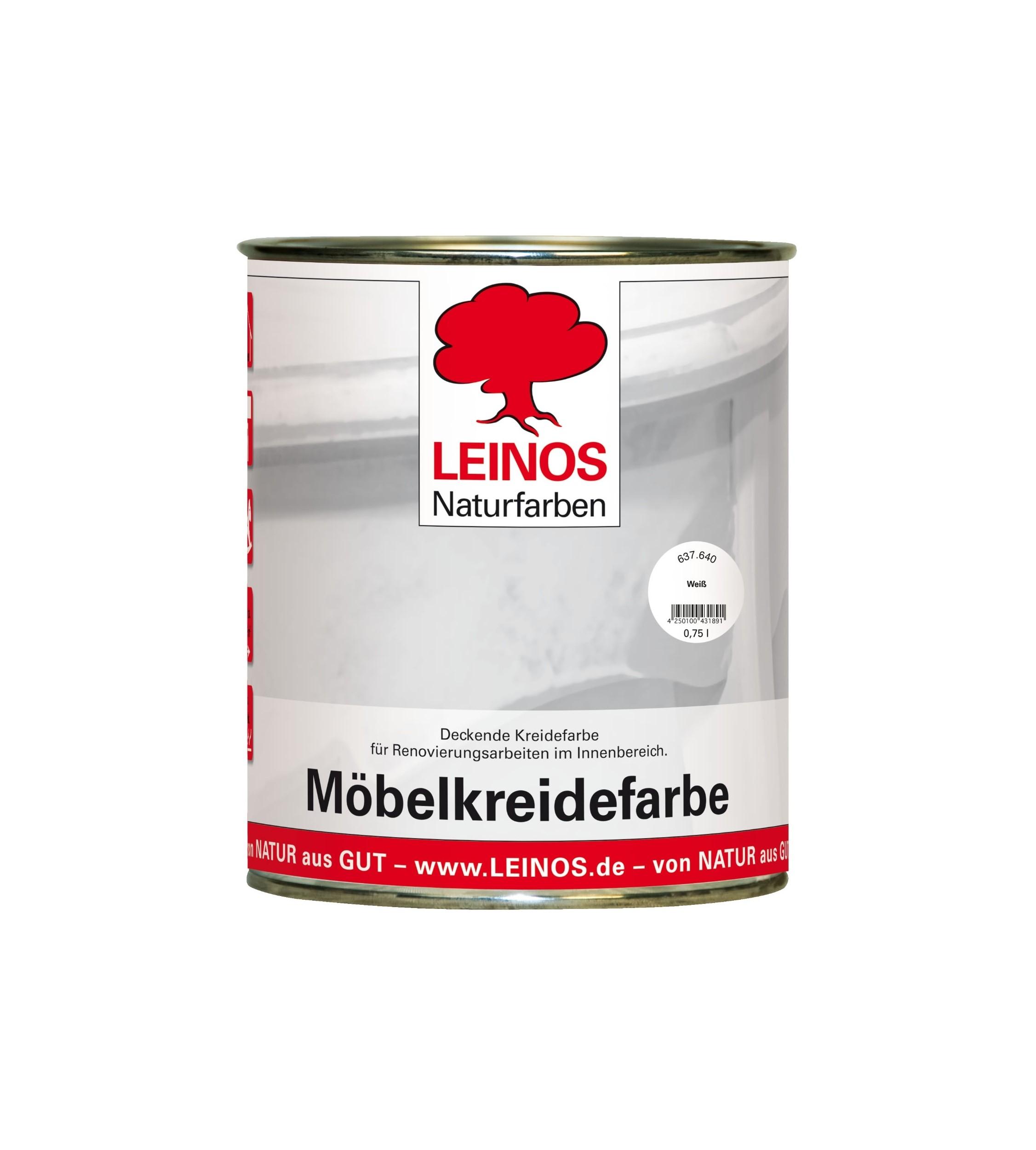 LEINOS Möbelkreidefarbe weiß 0,75 l