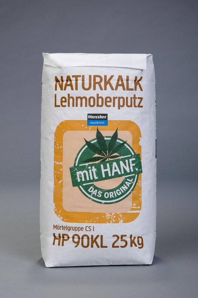 Hessler HP 9 KL - Naturkalk-Lehm-Grundputz mit Hanf    25 kg-Sack