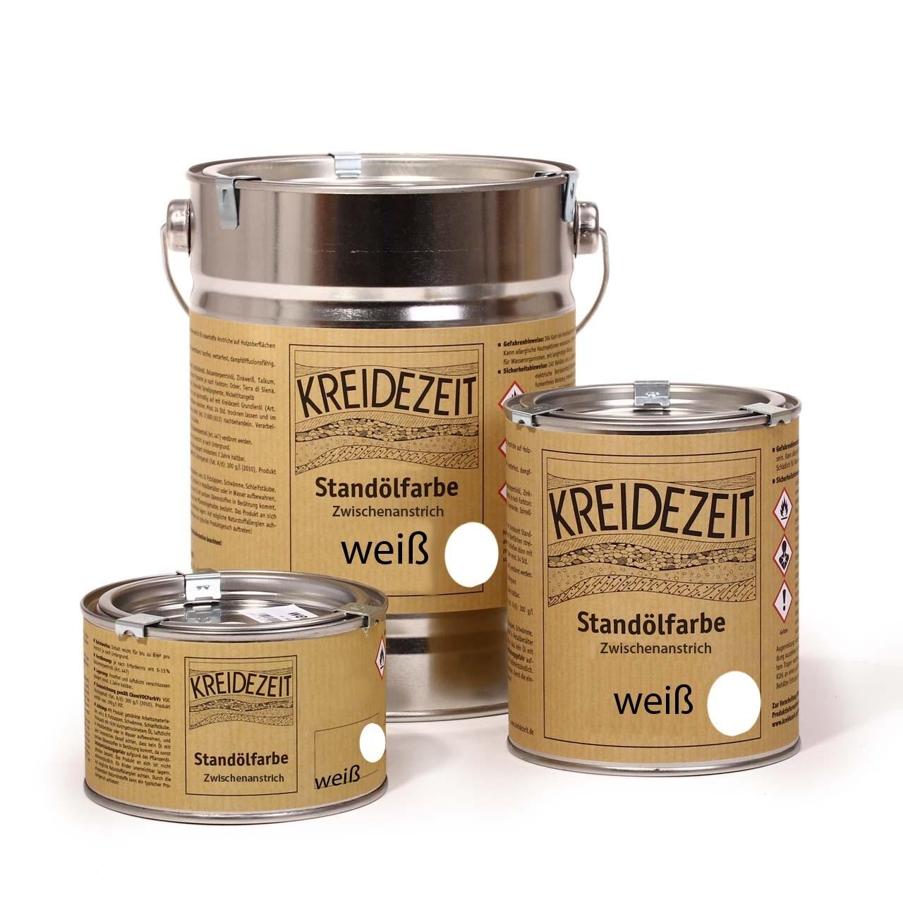 Kreidezeit Standölfarbe Schlussanstrich vollfett 750 ml Sonderfarbe
