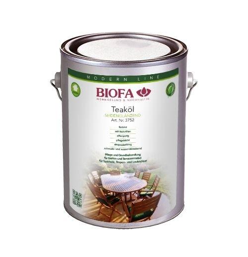 BIOFA Teaköl für Gartenmöbel aus Holz 2,5 l
