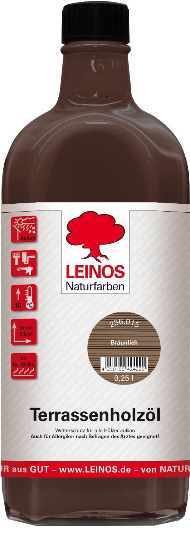 Leinos Terrassenholzöl Bräunlich 236 - 0,25 L