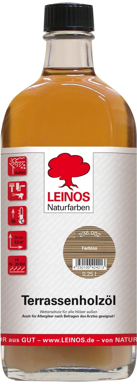 Leinos Terrassenholzöl Farblos 236 - 0,25 L