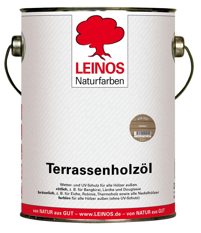 Leinos Terrassenholzöl Farblos 236 - 2,5 L