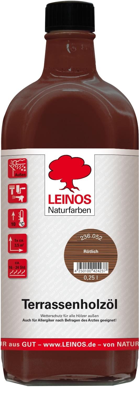 Leinos Terrassenholzöl Rötlich 236 - 0,25 L