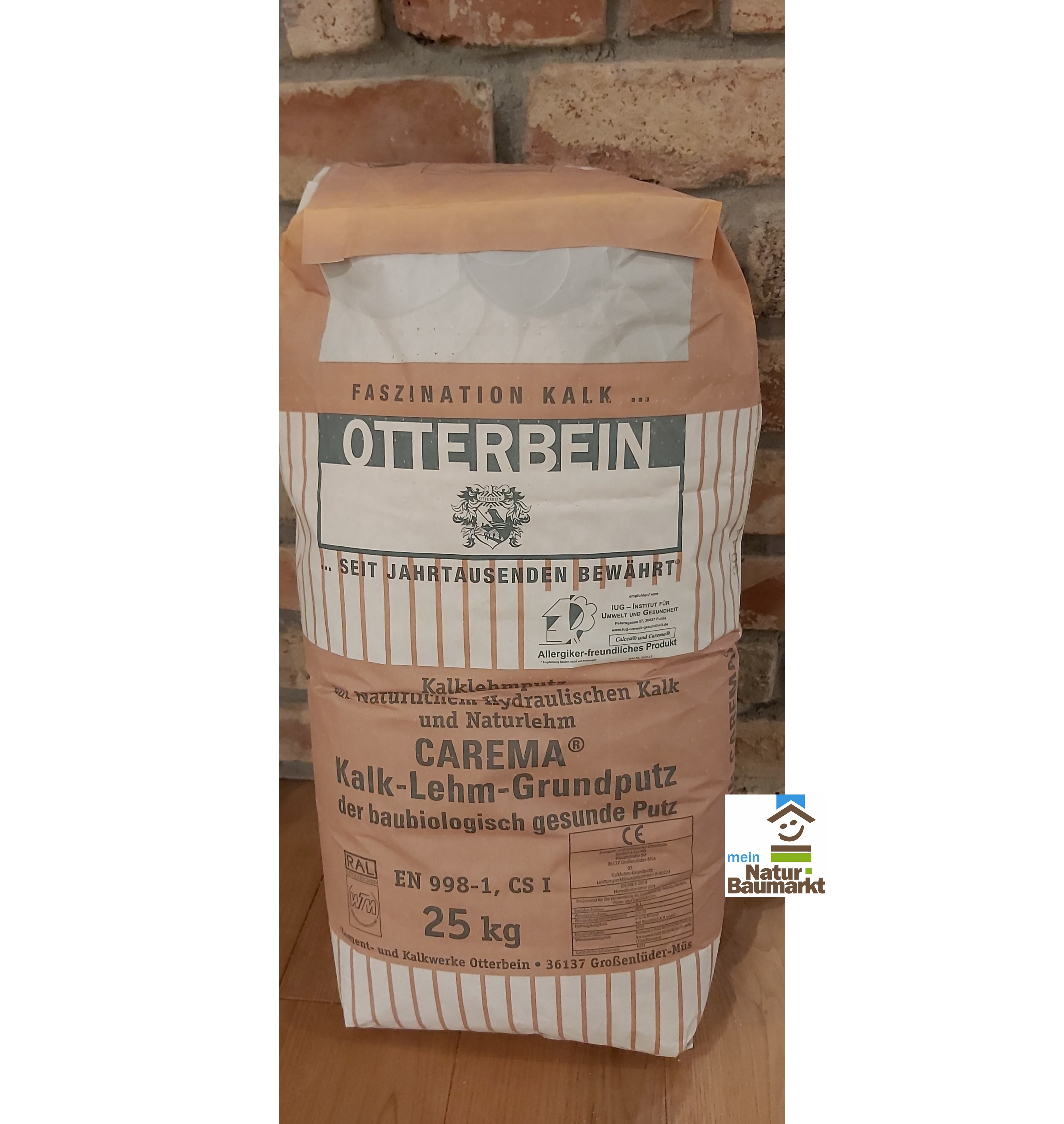 Otterbein CAREMA® Kalk - Lehm - Grundputz, 25 kg Sack