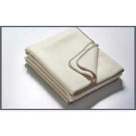 Schafswolldecke Merinowolle weiß 155 x 200 cm 1.600 g