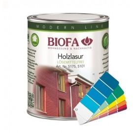 BIOFA Holzlasur farbig, lösemittelfrei 2,5 l