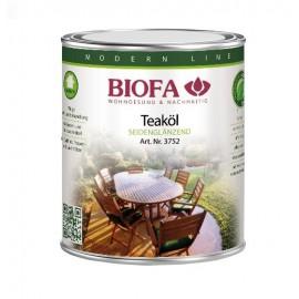 BIOFA Teaköl für Gartenmöbel aus Holz 1 l